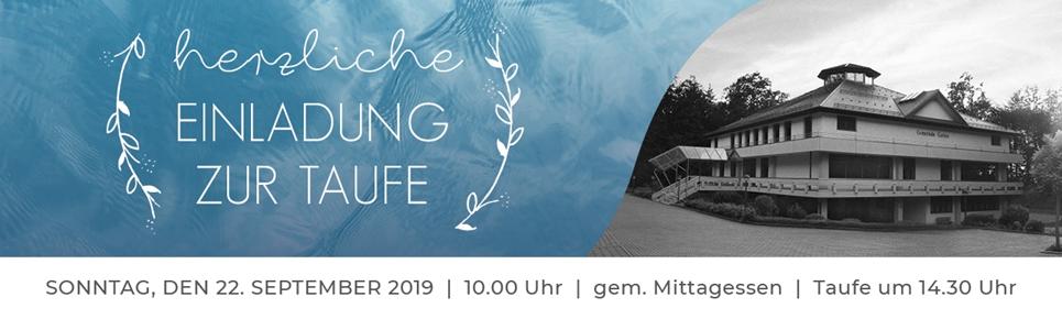 Einladung Taufe 2019